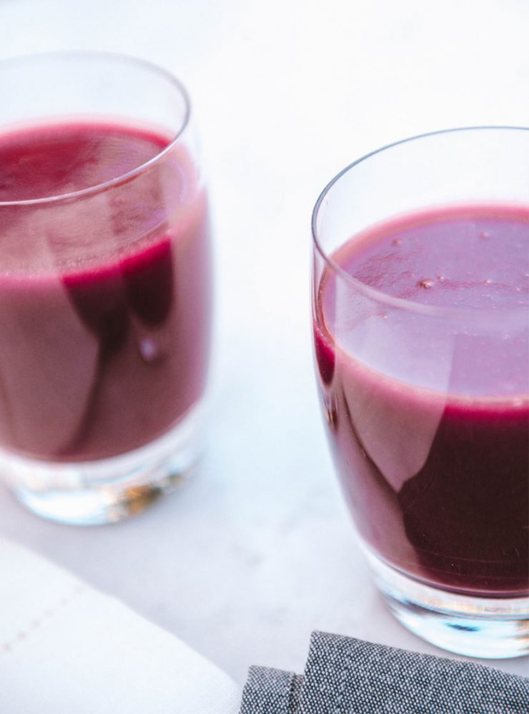 Beetroot Juice with spinach, apple & celery