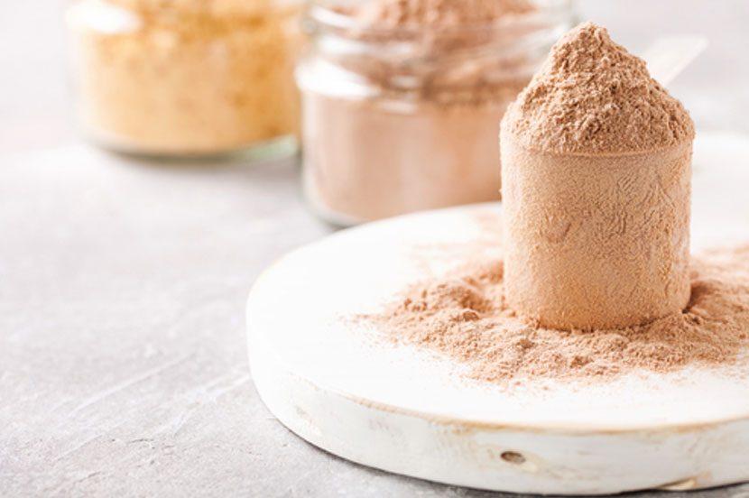 Protein powder, chocolate, vanilla flavour