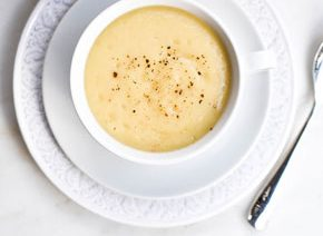 Celeriac Soup with crack black pepper