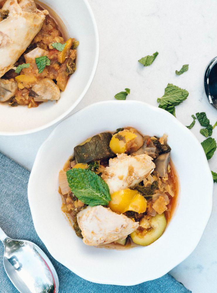 Red Lentil, Cayenne, Yellow Pepper Chicken Stew