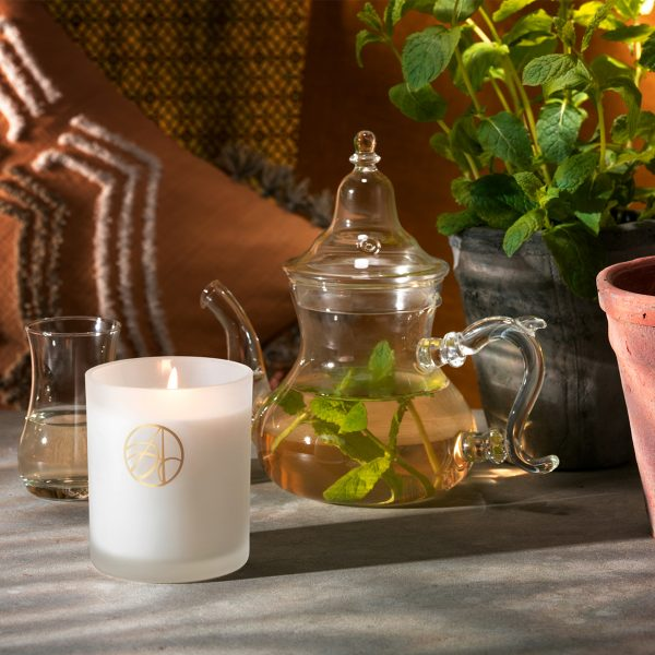 Moroccan Tea House Wild Mint Scented Aromatherapy Organic Natural Wax Candle