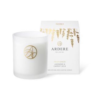 Provence Lavender & Carrot Seed Scented ARDERE Aromatherapy Organic Natural Wax Candle