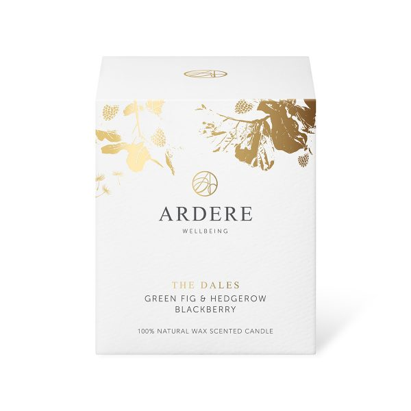 The Dales - Green Fig & Hedgerow Blackberry Scented ARDERE Aromatherapy Organic Natural Wax Candle