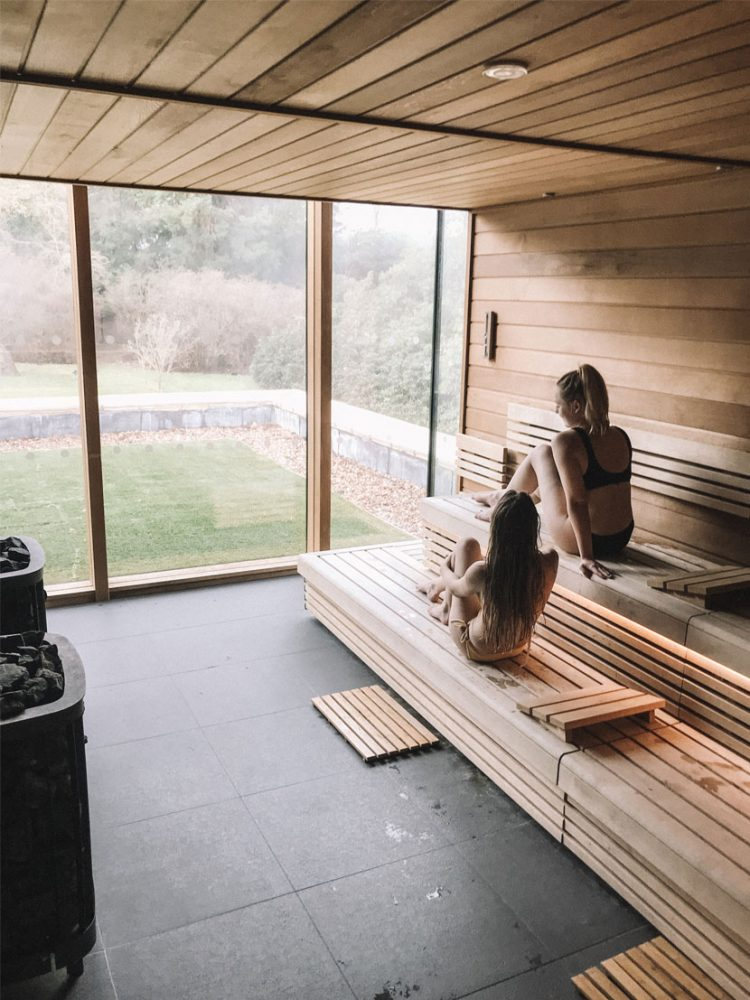 Panoramic Sauna at Rudding Park Spa & Hotel. in Harrogate