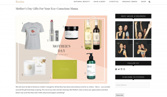 ARDERE The Dales in Ftoxins Mothers Day Gift Guide