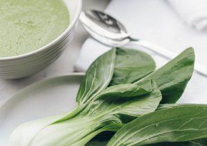 Broccoli and pak choi soup