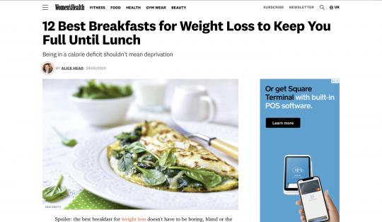Lauren Windas Women's Health 12 Best Breakfasts