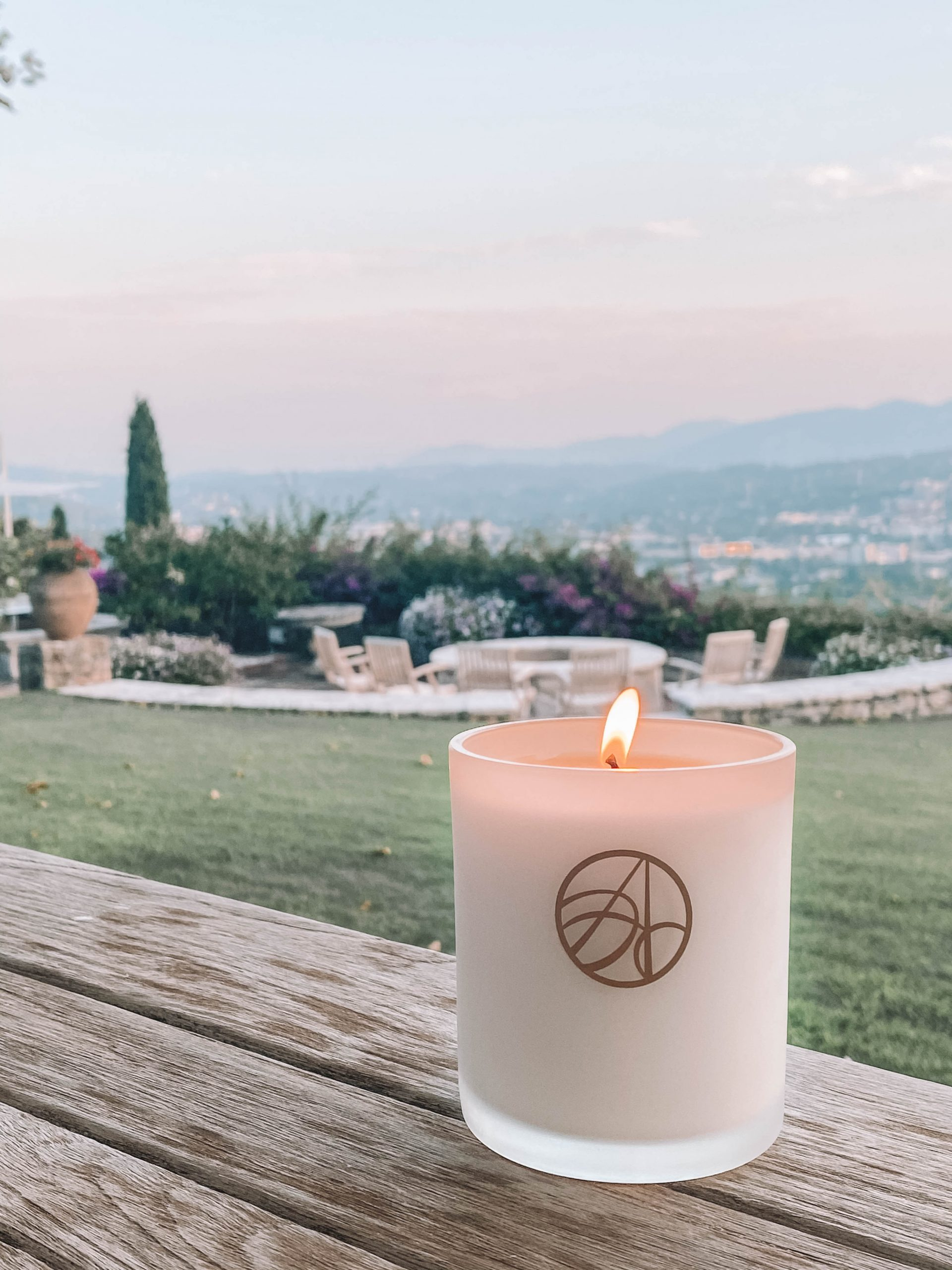 Provence lavender candle in France