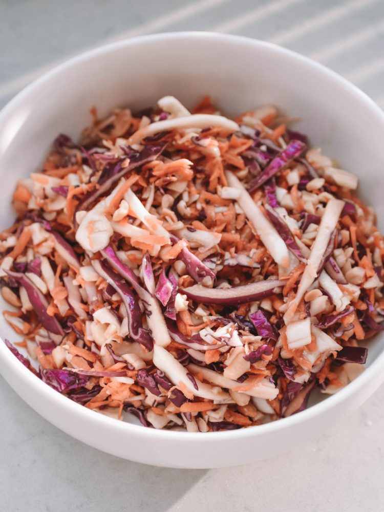 ASIAN PEANUT, CABBAGE AND GINGER SLAW