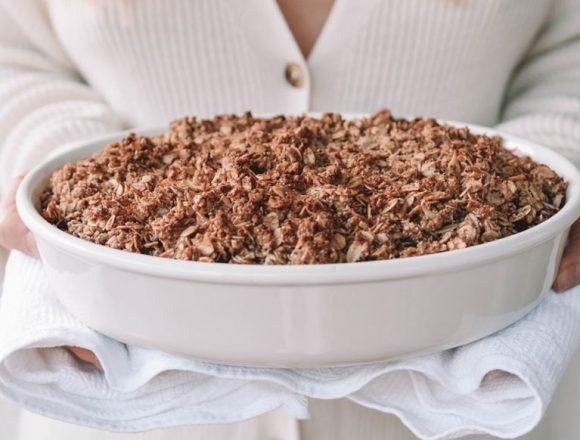 Gluten-free Apple-Blackberry-Hazelnut-Crumble