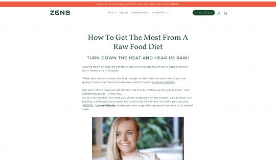 Zen B Raw Food Diet